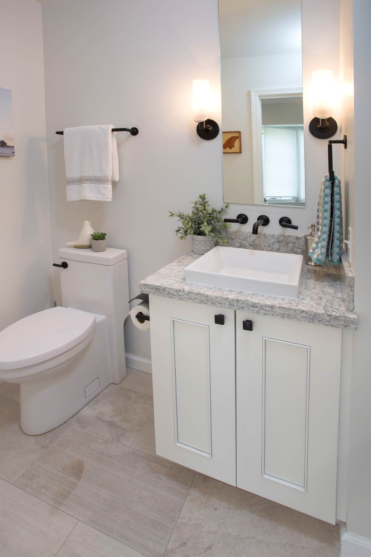Half bathroom remodel by Accent Design