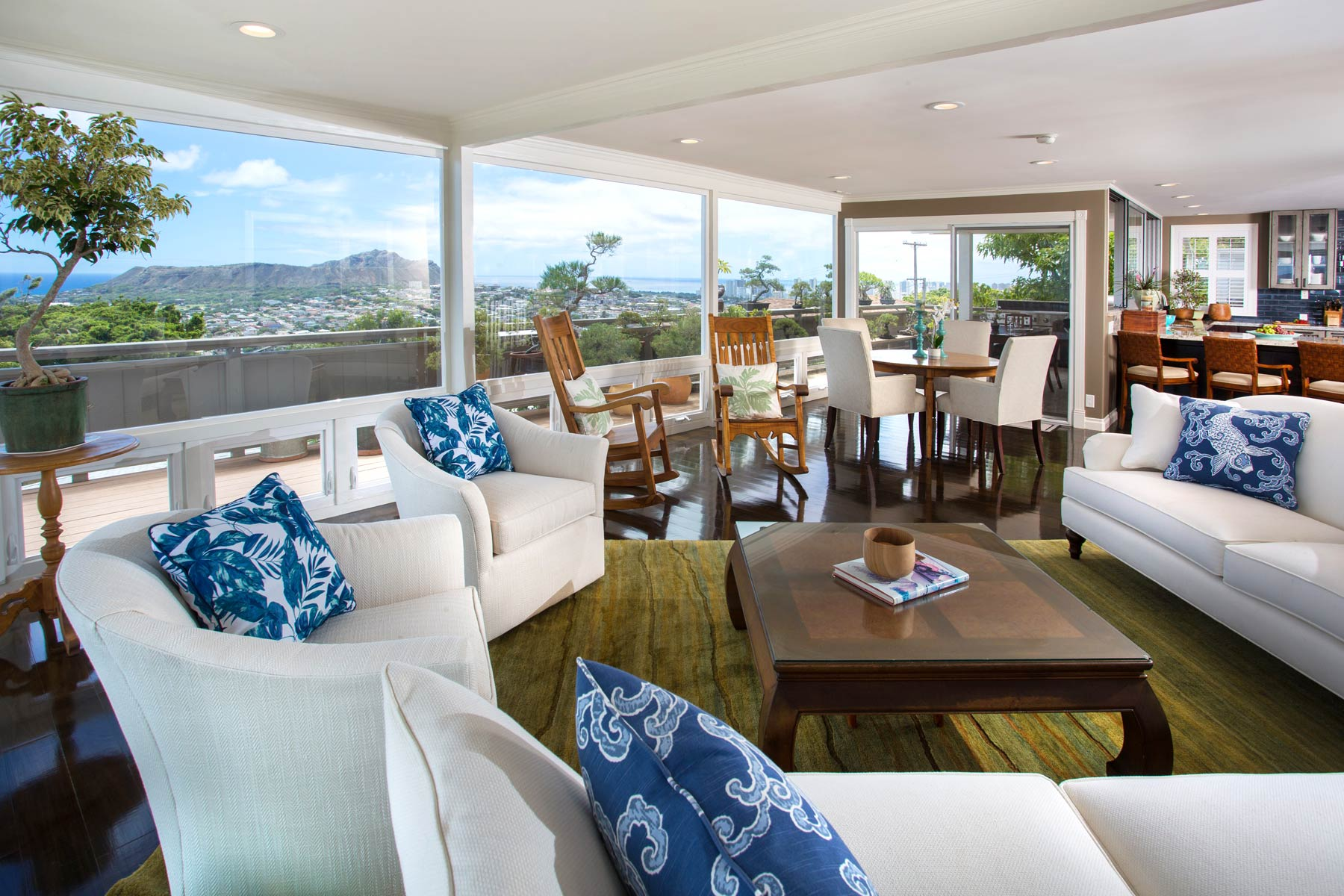 Maunalani living room remodel by Accent Design