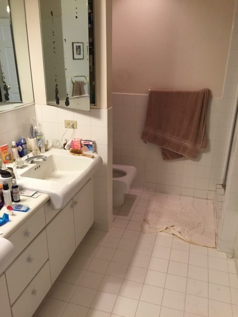 Hawaii bathroom before remodel