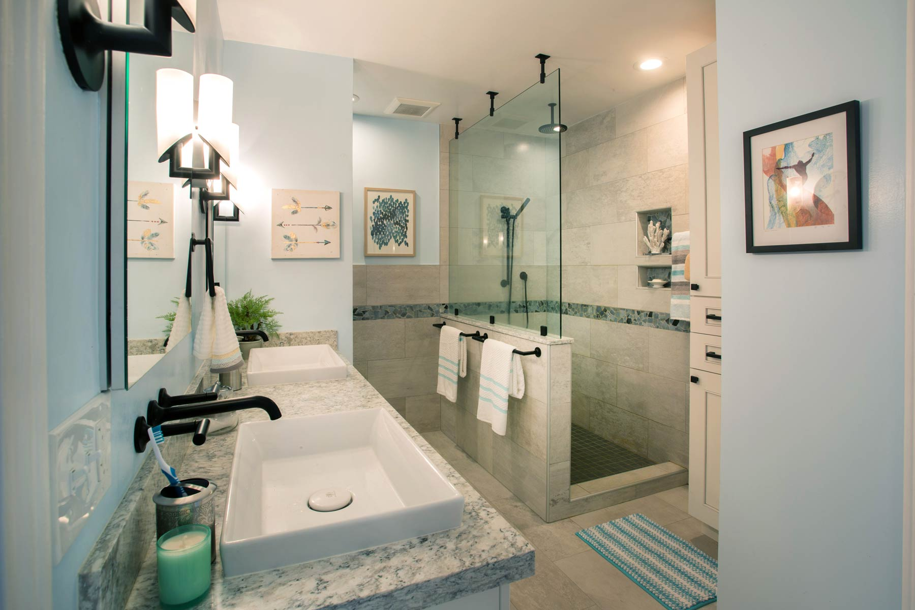 Hawaii master bathroom remodel by Accent Design
